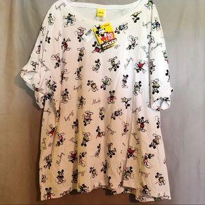 NWT Disney Mickey Mouse sketch t-shirt 3X Kohl's